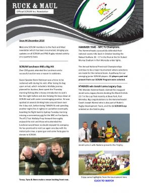 Ruck and Maul Newsletter Issue #7