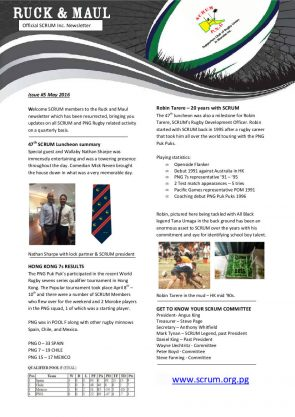 Ruck and Maul Newsletter Issue #5